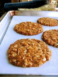The Bojon Gourmet: Anzac Biscuits (in the British sense of the word) British Biscuits, Bojon Gourmet, Galletas Cookies, Popular Recipes, Healthy Snacks, Golden Syrup, Food And Drink, Cooking Recipes, Sweets