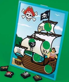Pirate Ship Bean Bag Toss - Pirate Party Game