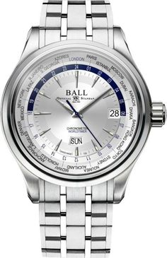 @ballwatchco Trainmaster Worldtime #basel-16 #bezel-fixed #bracelet-strap-steel #brand-ball-watch-company #case-depth-12-5mm #case-material-steel #case-width-41mm #cosc-yes #date-yes #day-yes #delivery-timescale-1-2-weeks #description-done #dial-colour-silver #gender-mens #luxury #movement-automatic #new-product-yes #official-stockist-for-ball-watch-company-watches #packaging-ball-watch-company-watch-packaging #style-dress #subcat-trainmaster #supplier-model-no-gm2020d-s1cj-sl #warrant...