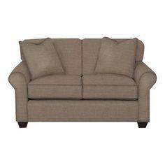 Wayfair Custom Upholstery Jennifer Loveseat Upholstery: Lizzy Hemp