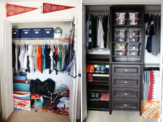 Before & After: Cleaning up a kid's closet!