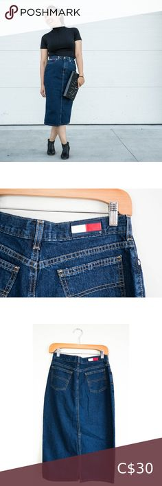 Retro Tommy Hilfiger Jean Skirt Long Classic Look Tommy Hilfiger Retro Jean Skirt All buttons and zippers are in perfect working order  Tag Says: 14  Laid Flat Waist: 14 Inch Hips Laid Flat: 18 Inch Length: 28 3/4 Inch Tommy Hilfiger Skirts Pencil Local Charities, Tommy Hilfiger Skirts, Plus Fashion, Fashion Tips, Fashion Trends, Jean Skirt, Classic Looks, Zippers, Mom Jeans
