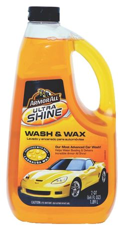 Armor All 10346 Ultra Shine Wash and Wax - 64 oz. ArmorAll Ultra Shine Wash and Wax gently lifts away dirt that can cause scratches and swirls. Wash Car At Home, Car Wash Wax, Washing Detergent, Armor All, Water Beads, Top Cars, Car Cleaning, Shopping Hacks