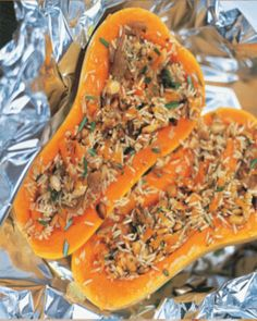 hamilton squash - jamie oliver use brown or wild rice