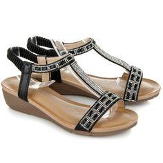 Nízke sandále na kline 283B