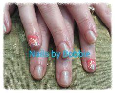 Shellac with nail art. #nailart #head2toesalon #nailsbybobbie