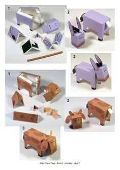 Nativity Story -- pop-up/out paper characters to create a nativity scene
