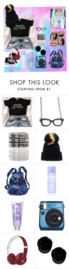 """Summer '17"" by lilhellraiser ❤ liked on Polyvore featuring DC Shoes, Eugenia Kim, Victoria's Secret PINK, Fujifilm and Beats by Dr. Dre"