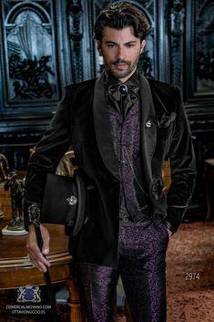 DEVIL Fashion Giacca Da Uomo Frac Red Velvet Goth Steampunk aristocratico Regency