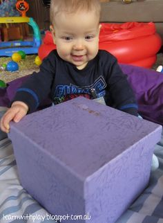 What's in the Box??   activities for babies, baby game, baby activity