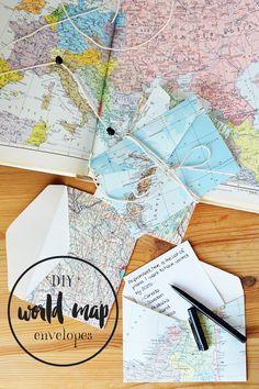 DIY World Map Envelo
