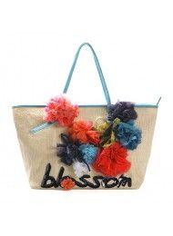 bloemen in de zomer handtassen 2011 nieuwe canvas schoudertas idioot