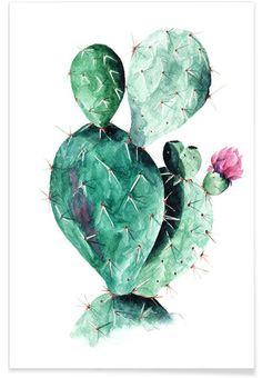 Cactus en Affiche premium par Annet Weelink Design | JUNIQE