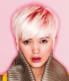 Baby pink roots with white ends....think I will get something similar on my next visit...hmmmmmm