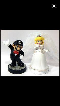 mario kart wedding cake toppers pair of mario bros wedding cake toppers 17146