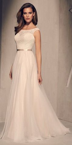 Courtesy of Mikaella Wedding Dresses #weddinginspiration