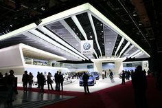 Booth Design Volkswagen Exhibition Stand Design, Exhibition Booth, Exibition Design, Trade Show Design, Ceiling Treatments, Interactive Installation, Stage Design, Booth Design, Retail Design