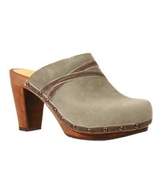Take a look at this Stone Wood Mira Plateau Clog - Women by Sanita on #zulily today!