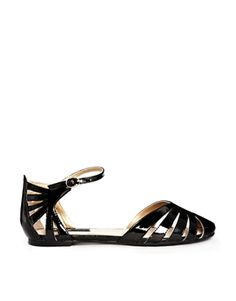 Blink Cut Out Flat Strap Shoes