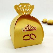 Crown 120pcs/lot Laser Cut Hollow Bride and Groom Souvenirs Wedding Party Favors Gifts Candy Boxes Baby Shower For Guests(China (Mainland))