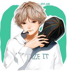 By Iyo_kani Namjoon, Kim Taehyung, Jimin, Bts Bangtan Boy, Yoonmin, Bts Chibi, Bts Anime, Taehyung Fanart, Jung Kook Bts