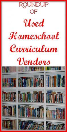 Roundup of Used Homeschool Curriculum Vendors