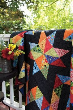 Star and Patchwork Prism Quilts For Sale! Star Quilt Blocks, Star Quilt Patterns, Star Quilts, Scrappy Quilts, Easy Quilts, Amish Quilts, Quilting Projects, Quilting Designs, Quilting Ideas