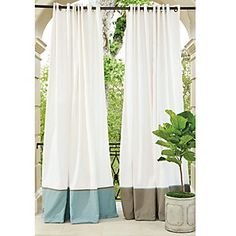 Suzanne Kasler Banded Indoor/Outdoor Drapery Panel