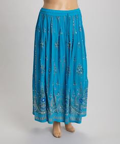 Another great find on #zulily! Turquoise Arabesque Maxi Skirt - Plus #zulilyfinds