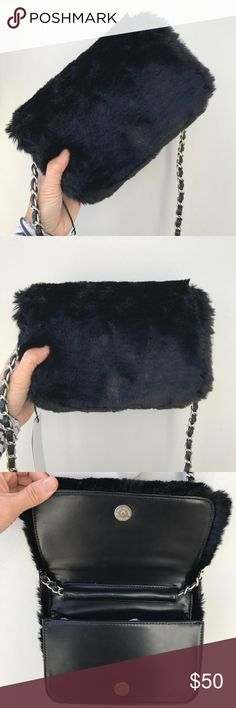 40eebd7740ac Nasty Gal Estrella Faux Fur Crossbody Bag A beautiful Estrella black faux  fur crossbody bag from