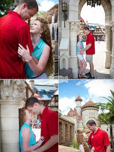 Disney engagement pic ideas. Yes! :)