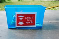 Guests contribute to a time capsule
