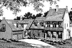 House Plan 41-168 - i dont want it this big...but i like the walk out porch on top...