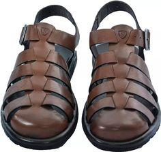 a67aa51acd Sandália Masculina De Couro Stock Sandals Kamino - R  139