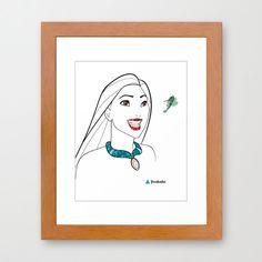 Disney Princess Pocahontas & Flint Minimalist Art 8x10-Professional Metallic  Print - Disneys Home Decor, girls room, hummingbird. $15.50, via Etsy.
