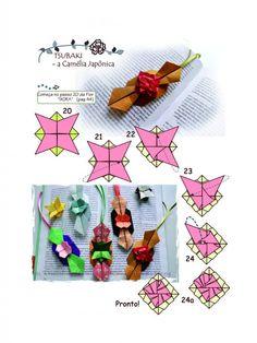 Diagrama da Flor TSUBAKI - a Camélia do Japão, de Flaviane Koti e Vera Young Mais