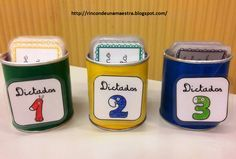 Rincón de una maestra: Las cajitas de los dictados Bilingual Classroom, Spanish Classroom, Language And Literature, Speech And Language, Dora, Jolly Phonics, Montessori Education, Educational Crafts, Grammar And Vocabulary