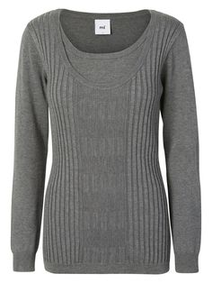 Knitted nursing blouse from MAMALICIOUS. Wear with black jeans and sneakers for a casual 'cool mom' look. Jeans And Sneakers Outfit, Nursing Wear, Breastfeeding Support, Friend Outfits, Best Mom, Organic Cotton, Black Jeans, Men Sweater, Unisex