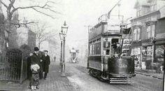 Bearwood tram St Marys church Birmingham England, The Old Days, West Midlands, Nottingham, World History, Bristol, Old Photos, Past, Old Things