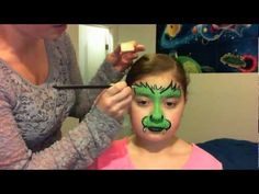 monster face painting tutorial