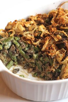 This ultra creamy whole foods version of the classic green bean casserole tastes so decadent that you'll never guess it's dairy and guilt-free!