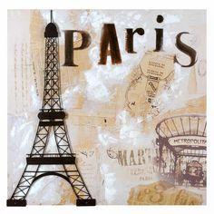 Paris vintage canvas print
