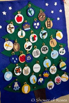 Felt Jesse Tree ornaments! Love these for inspiration for next year!