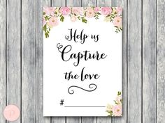 wd67-p-Help us capture the love, Wedding Hashtag Sign