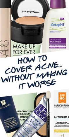 HOW TO COVER ACNE WITHOUT MAKING IT WORSE | A step-by-step guide to covering your acne...without making it worse! http://blog.pampadour.com/cover-acnewithout-making-worse/ #Pampadour