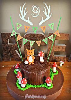 gateau-animaux-foret-renard-woodland-cake-fox