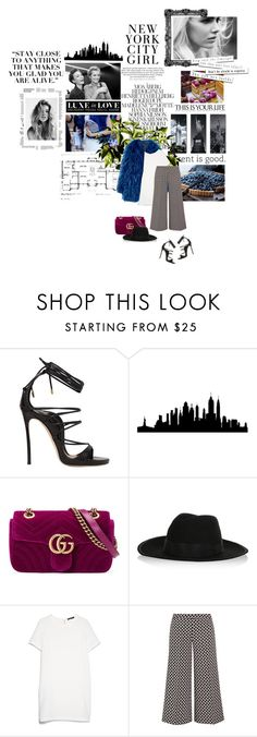 """""""NEW YORK&SHINE"""" by maria-efth ❤ liked on Polyvore featuring Dsquared2, Dolce&Gabbana, H&M, WALL, Gucci, Karl Lagerfeld, MANGO and MICHAEL Michael Kors"""