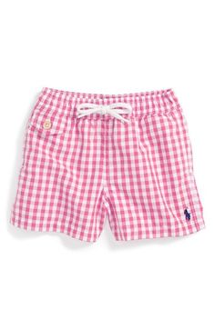 6ee8885c55 Ralph Lauren Swim Trunks (Baby Boys) available at #Nordstrom Toddler  Swimming, Girls