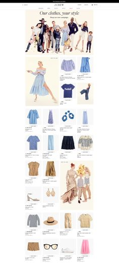 J.Crew List Page for campaign - nice way to shop a campaign or collection with lifestyle iages mixed with products.  https://www.jcrew.com/uk