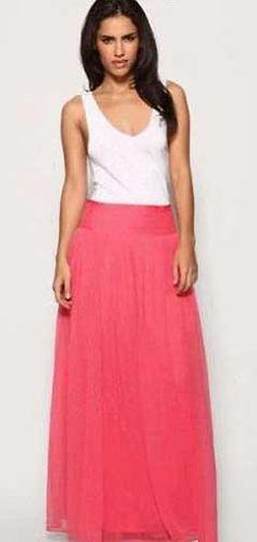 Выкройка длинной юбки из шифона - идеально для лета! Шикарная длинная юбка из шифона кораллового цвета станет украшением вашего летнего гардероба. Выкройку длинной юбки из шифона смоделировать проще-простого...